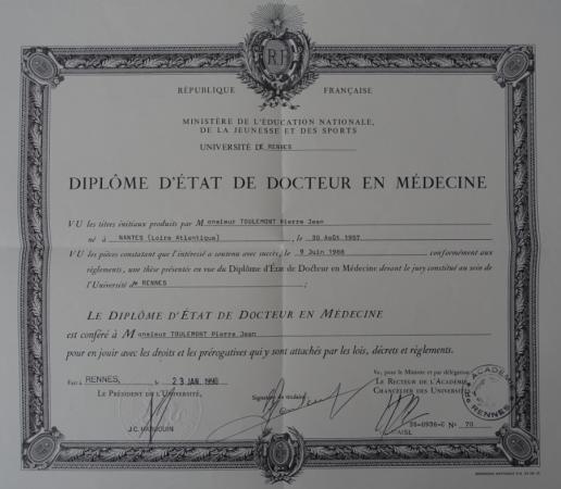 diplome ophtalmologie